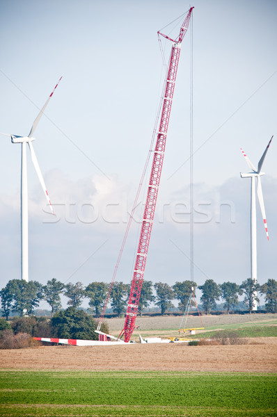 built wind power stations  Stock photo © tarczas