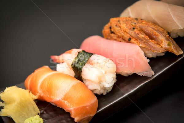 刺身 寿司 セット 食品 魚 ストックフォト © tarczas