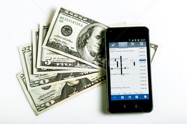 Zdjęcia stock: Forex · handlowy · telefonu · komórkowego · ceny · biały · działalności