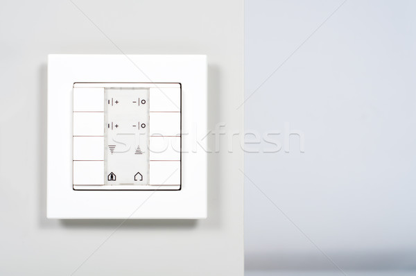 Biały nowoczesne elektronicznej przełącznik ściany świetle Zdjęcia stock © tarczas