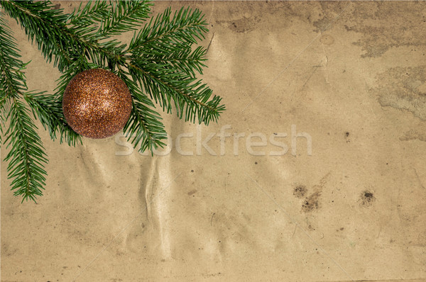 Christmas Decoration Over Old Leather Background Stock photo © tarczas