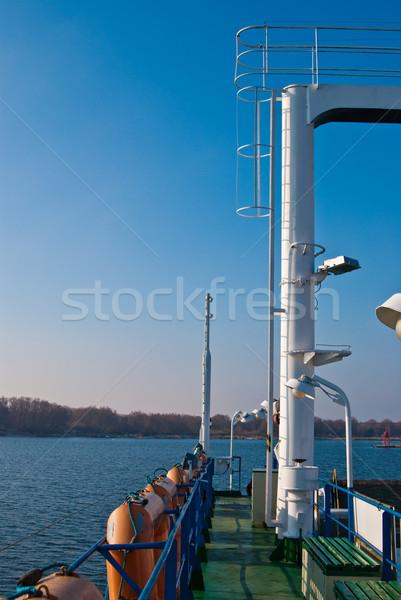 Pont zee hemel water schip toerisme Stockfoto © tarczas