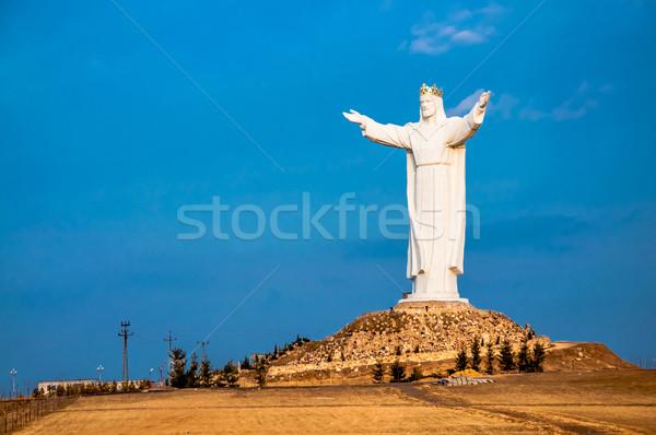 Mesih kral mavi beyaz din Hristiyan Stok fotoğraf © tarczas