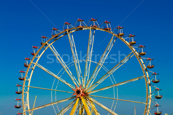 big wheel with multicolored cabins in amusement park  Stock photo © tarczas
