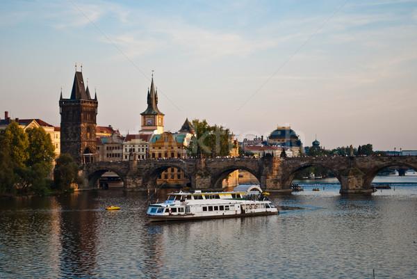 Charles's bridge in Prague Stock photo © tarczas