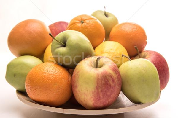 Smakelijk vruchten oranje appels banaan houten Stockfoto © tarczas