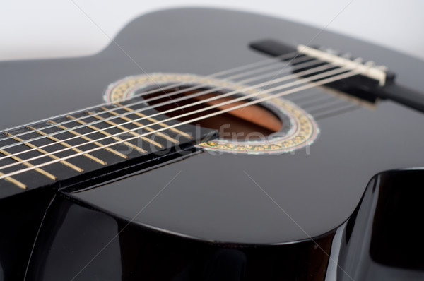 black acoustic guitar Stock photo © tarczas
