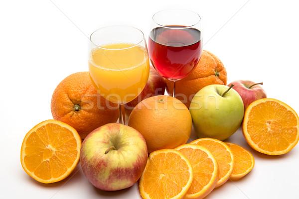 Friss narancs alma grapefruit dzsúz gyümölcsök Stock fotó © tarczas