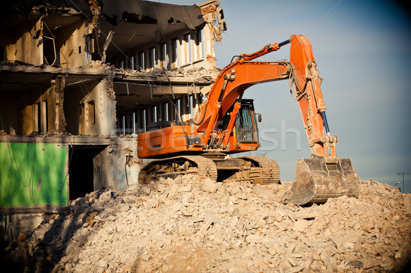 Pomarańczowy duży budynku ziemi przemysłu przemysłowych Zdjęcia stock © tarczas