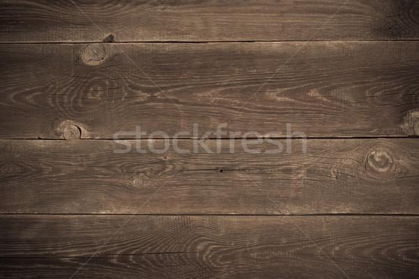 Madeira secretária textura parede fundo Foto stock © tarczas