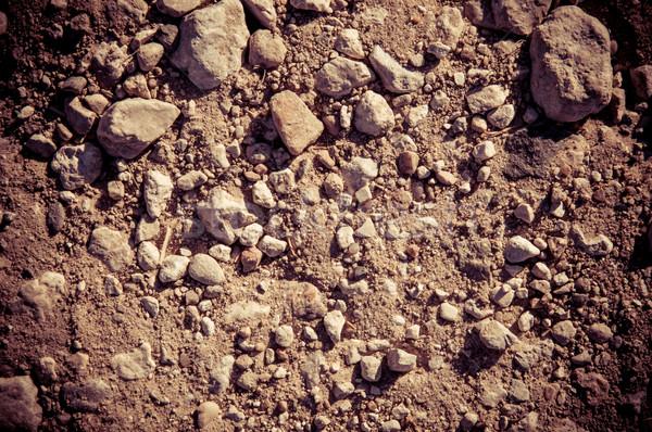 Wyschnięcia gleby kamienie rolniczy dziedzinie streszczenie Zdjęcia stock © tarczas