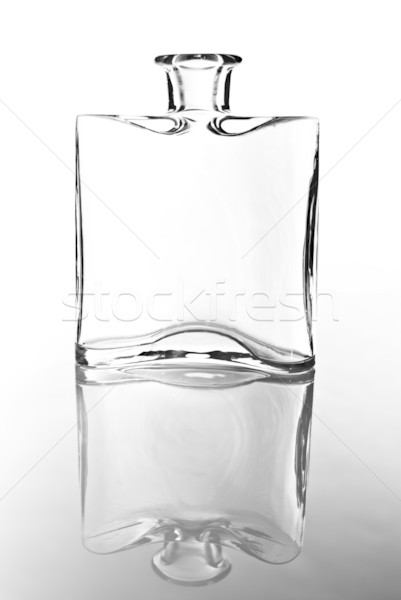 empty glass carafe in black and white Stock photo © tarczas