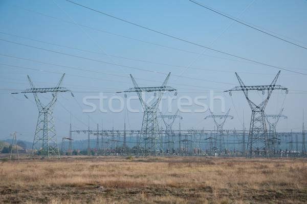 технологий промышленных власти кабелей электрические Сток-фото © tarczas
