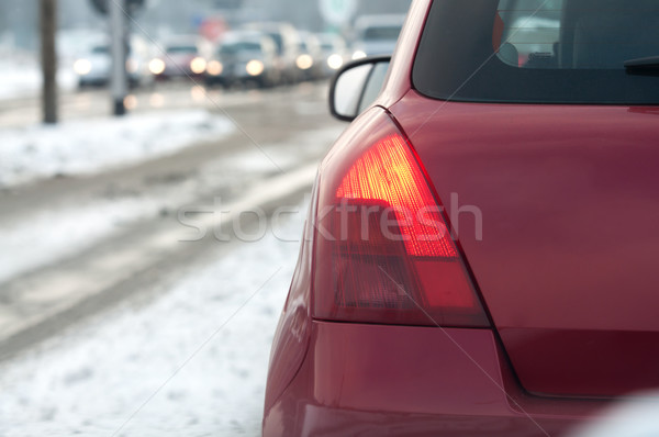 traffic jam in the city at winter time Stock photo © tarczas