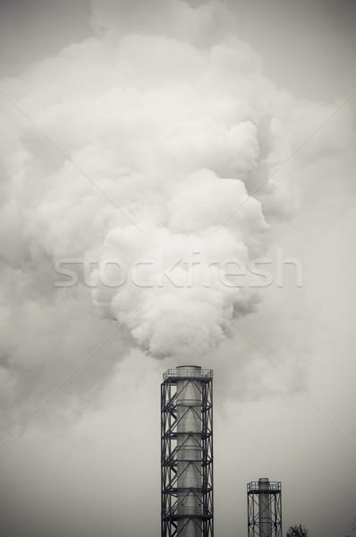 грязные дым загрязнения завода технологий воздуха Сток-фото © tarczas