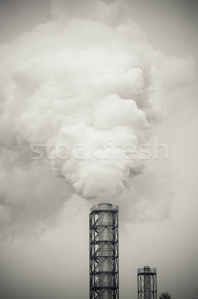Kirli duman kirlenme fabrika teknoloji hava Stok fotoğraf © tarczas