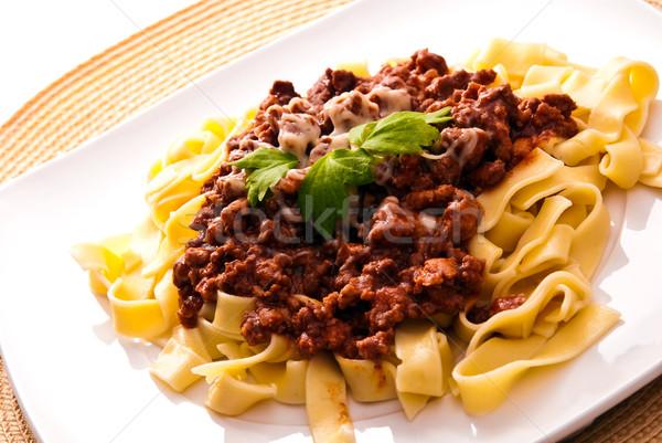 spaghetti bolognese with cheese  Stock photo © tarczas