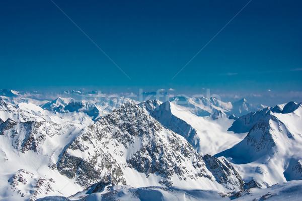 Ski resort of Neustift Stubai glacier Austria Stock photo © tarczas