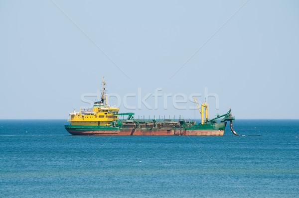 dredger ship working at sea Stock photo © tarczas