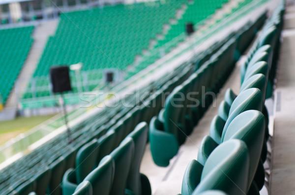緑 空っぽ スタジアム サッカー スポーツ ストックフォト © tarczas