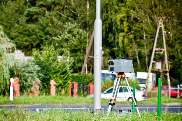 Snelheid camera kant weg auto stad Stockfoto © tarczas
