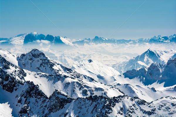 Stock fotó: Sí · üdülőhely · gleccser · Ausztria · hó · sportok