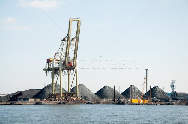 slag heaps of coal on the wharf in the port  Stock photo © tarczas