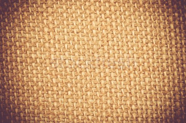 Kahverengi grunge tekstil tuval eski doku Stok fotoğraf © tarczas