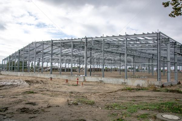 Foto stock: Edifício · industrial · ouvir · construção · espaço · indústria
