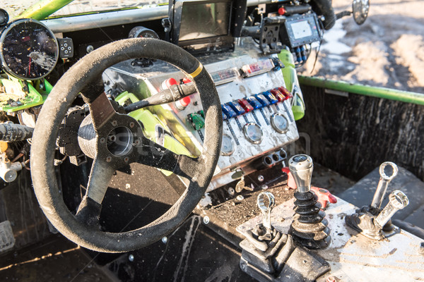 inside of offroad rally car Stock photo © tarczas
