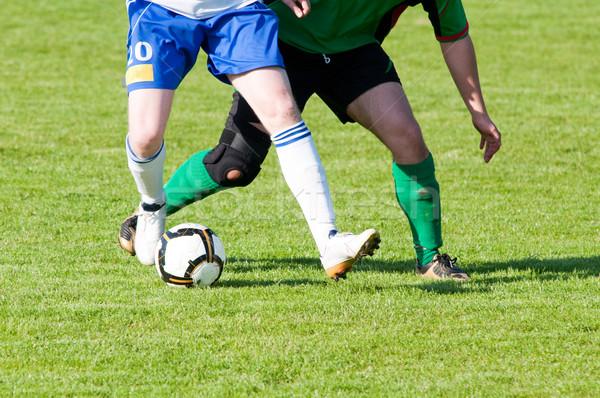 Football match duel deux concurrents domaine Photo stock © tarczas