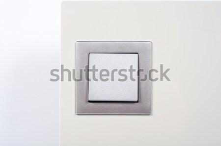 modern light switch on the wall close up Stock photo © tarczas