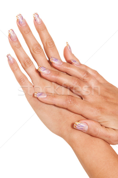 womens hand with painted nails  Stock photo © tarczas