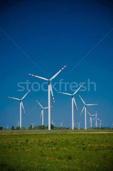 Turbina eolica farm rurale terreno tecnologia potere Foto d'archivio © tarczas