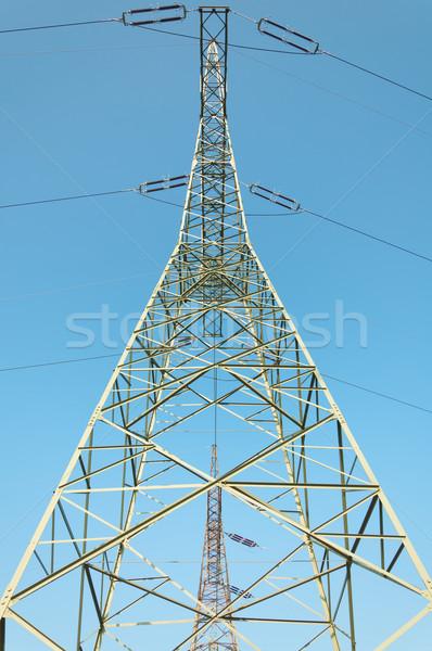 Távvezeték technológia ipari erő kábelek elektomos Stock fotó © tarczas