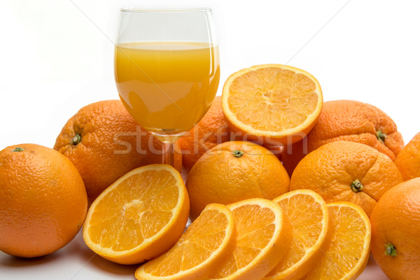 Fresco suco de laranja frutas branco comida maçã Foto stock © tarczas