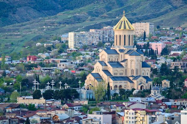 большой Церкви Грузия здании город Сток-фото © tarczas