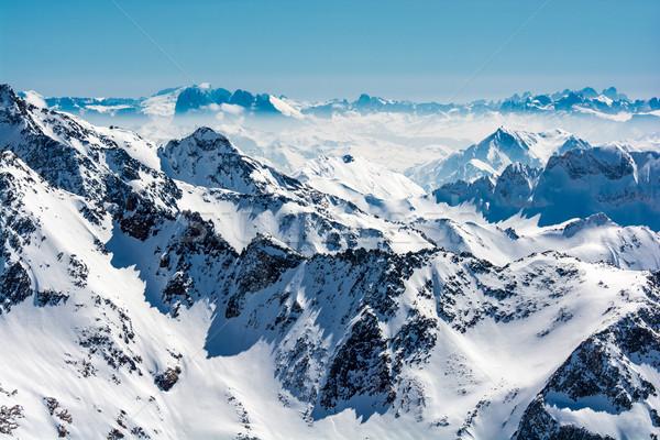 лыжных курорта ледник Австрия снега спортивных Сток-фото © tarczas