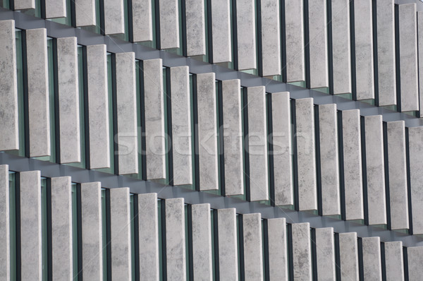 glass and steel structure on modern buildng Stock photo © tarczas