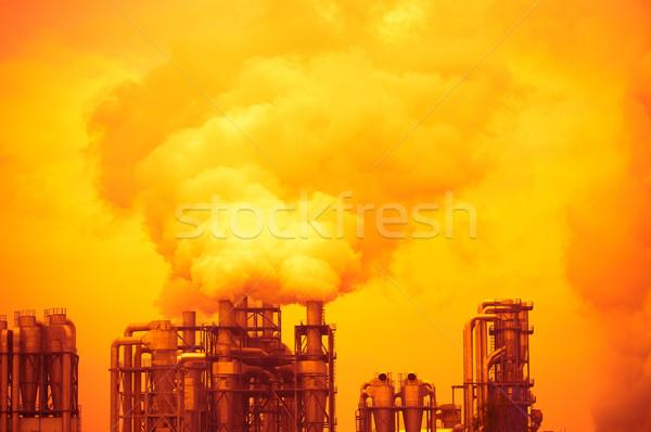 Koszos füst szennyezés gyár technológia levegő Stock fotó © tarczas