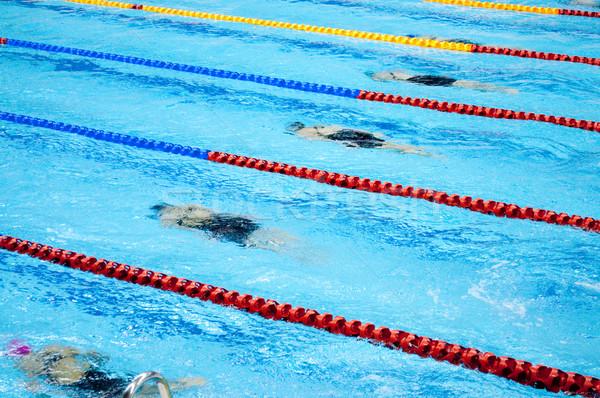 スイミングプール スポーツ プール スプラッシュ 泳ぐ ダイビング ストックフォト © tarczas