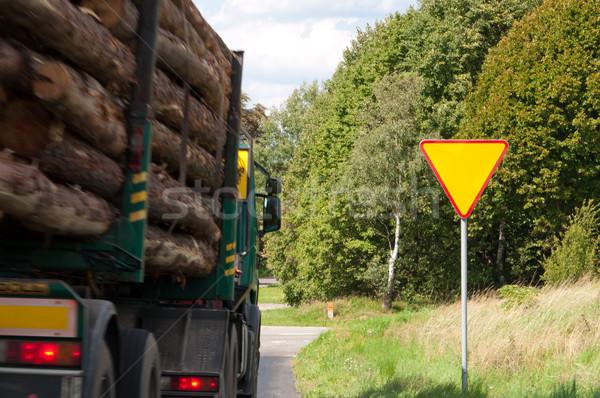 Camion velocità traffico trasporto Foto d'archivio © tarczas