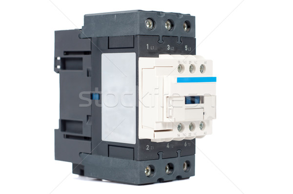 3 phase contactor isolated on white background Stock photo © tarczas
