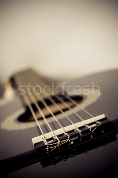 classical acoustic guitar close up Stock photo © tarczas