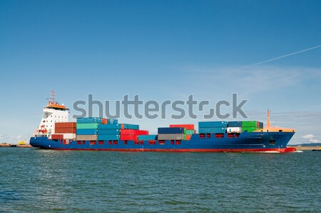 Containerschip haven zee boot vervoer container Stockfoto © tarczas