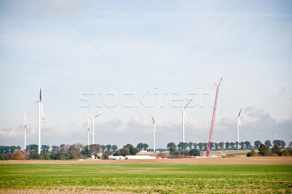built wind power stations  Stock photo © tarczas