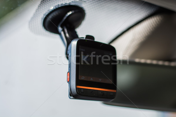 car video recorder instaled on the window Stock photo © tarczas