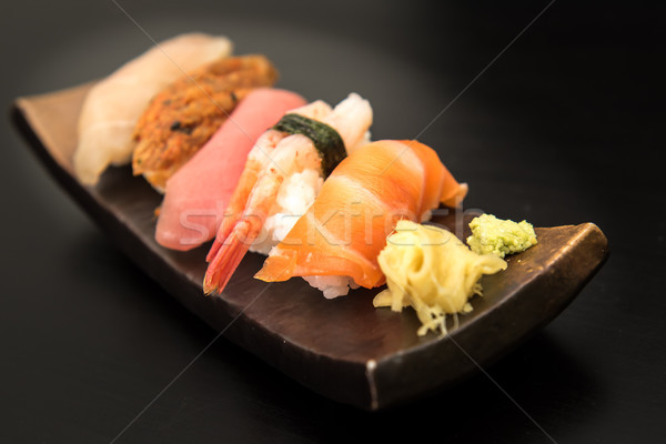 Sashimi sushis alimentaire poissons Photo stock © tarczas