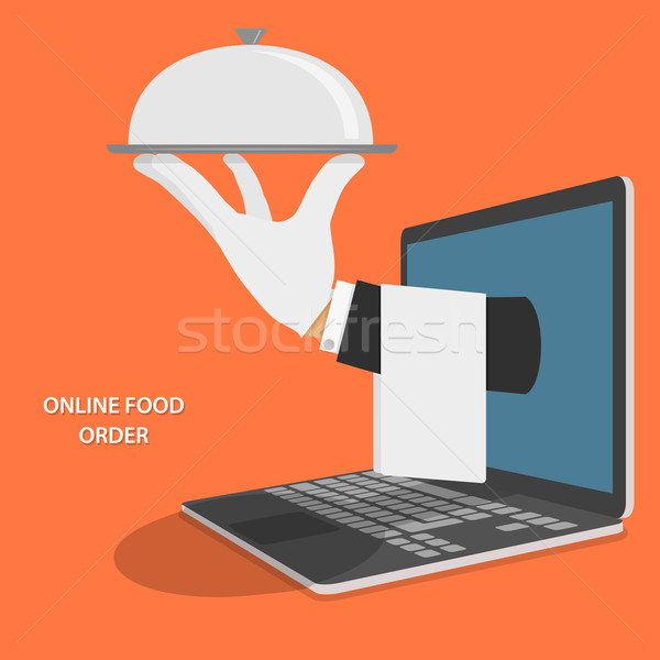Online Food Delivery Concept Illustration. Stock photo © TarikVision