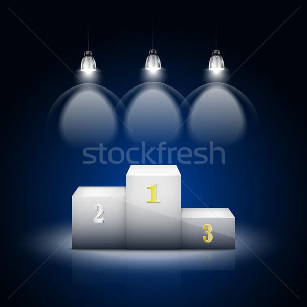 Witte verlicht partij achtergrond lamp donkere Stockfoto © TarikVision